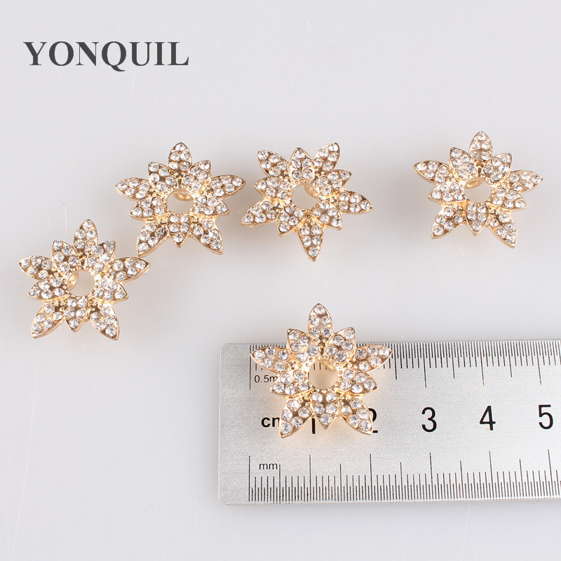 New Star Glod base rhinestones buttons 25*25 MM star rhinestone decoration DIY garment accessories hats shoes 12pcs/lot MYQB108