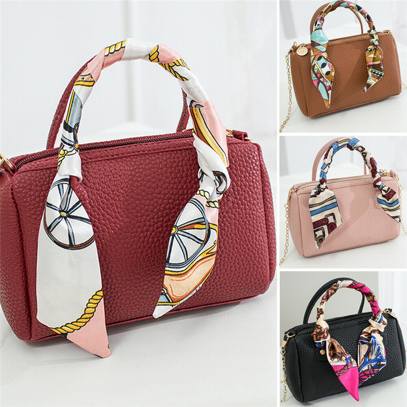Fashion Women PU Leather Handbag Single Shoulder Bag Tote Purse Messenger Satchel Wallet