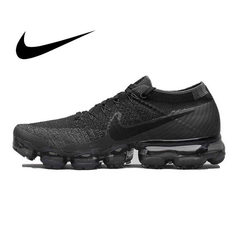 الأصلي أصيلة نايك الهواء VaporMax Be True Flyknit الرجال احذية الجري تنفس في الهواء الطلق أحذية رياضية 2019 جديد 849558-007