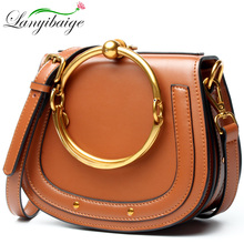 2019 New Top Luxury Saddle Bag For Women Messenger Bag Genuine Leather Handbags Female Small Crossbody Shoulder Bags new 2018 design cute bow small panelled saddle bag women classic split leather handbags ladies messenger bags for female an1087