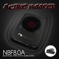 NBF8.0A 8 ''(20 см) активный Алюминий car audio Active под НЧ динамики автомобиля тонкий плоский под НЧ динамики с усилителем для Nakamichi