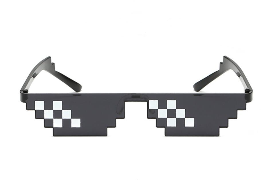 Модные солнцезащитные очки 5 цветов, детские игрушки для костюмированной игры, квадратные солнцезащитные очки для мальчиков и девочек, подарок на день рождения - Цвет: Two Line