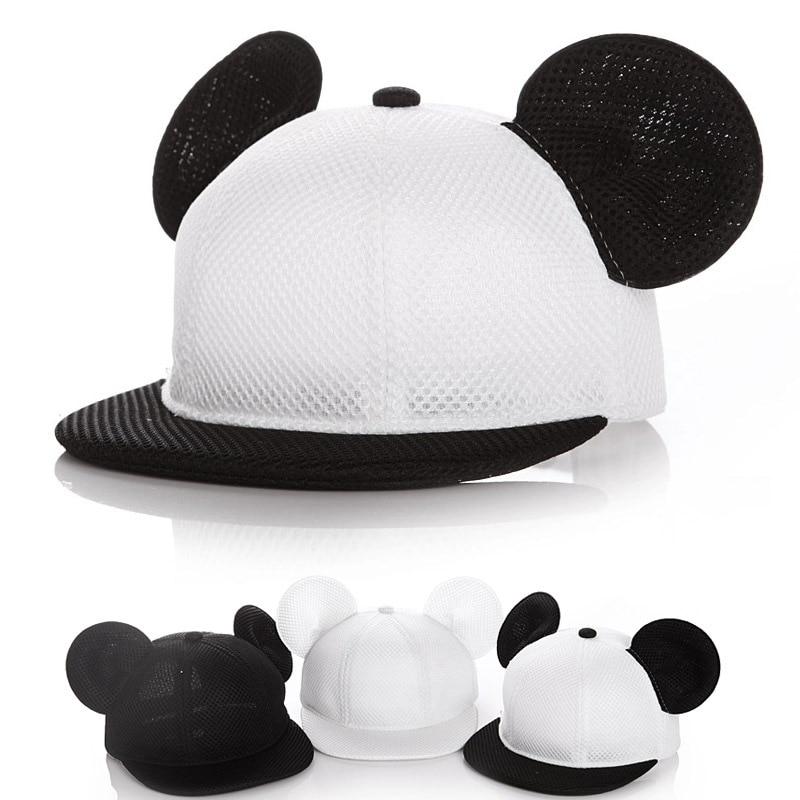Baby kids boy girl Fashion Mickey hat baseball cap accessoire bonnet bebes chapeau garcon fille touca gorro Two sizes