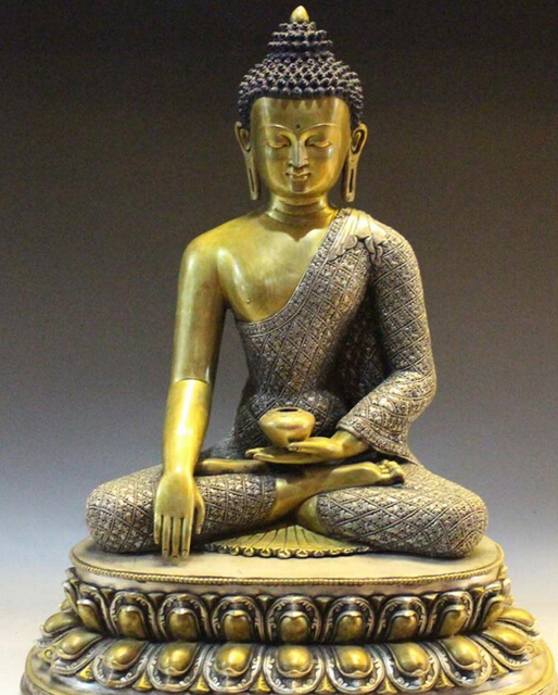nepal buddhism pure silver 24k gold shakyamuni tathagata amitabha