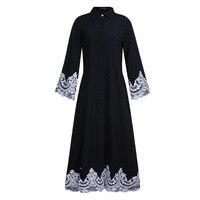 Jilbabs En Real Voor Vrouwen Koop Hot Volwassen Polyester gewaad Musulmane 2017 Midden-oosten Turkije Zijn Moslim Gesp Kant Abaya