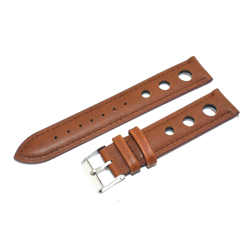 High Quality Genuine Leather Watch Strap Replacement for Women Man Watch Band 18mm 20mm 22mm Strap Belts Watchband Brown KZ3H03 in Watchbands from Watches