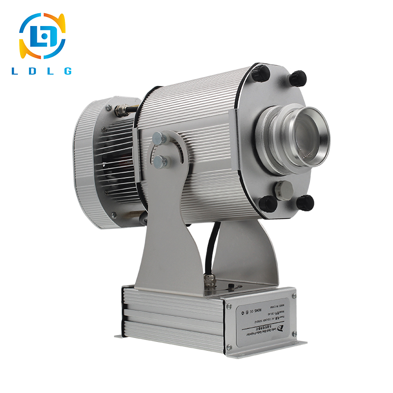 NEW Aluminum Alloy Silver Rotary Christmas Image 80W LED Gobo Projector Long Distance Wedding Decoration 10000lm Projector Light