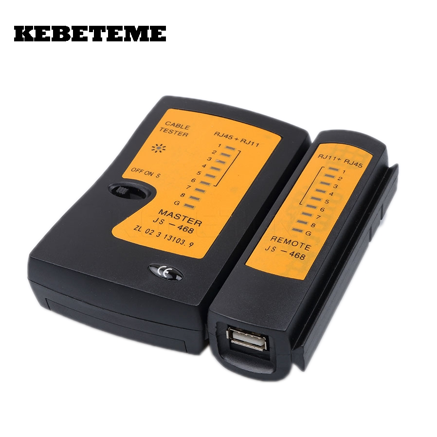 KEBETEME Professional RJ45 USB Network Cable Wire Tester Ethernet LAN Network Tester Detector Tracker Networking Tool