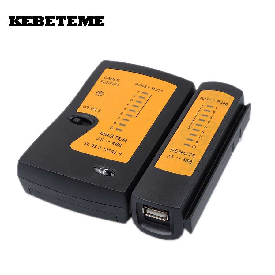 kebeteme professional rj45 usb network cable wire tester ethernet lan network tester detector tracker networking tool [ 898 x 898 Pixel ]