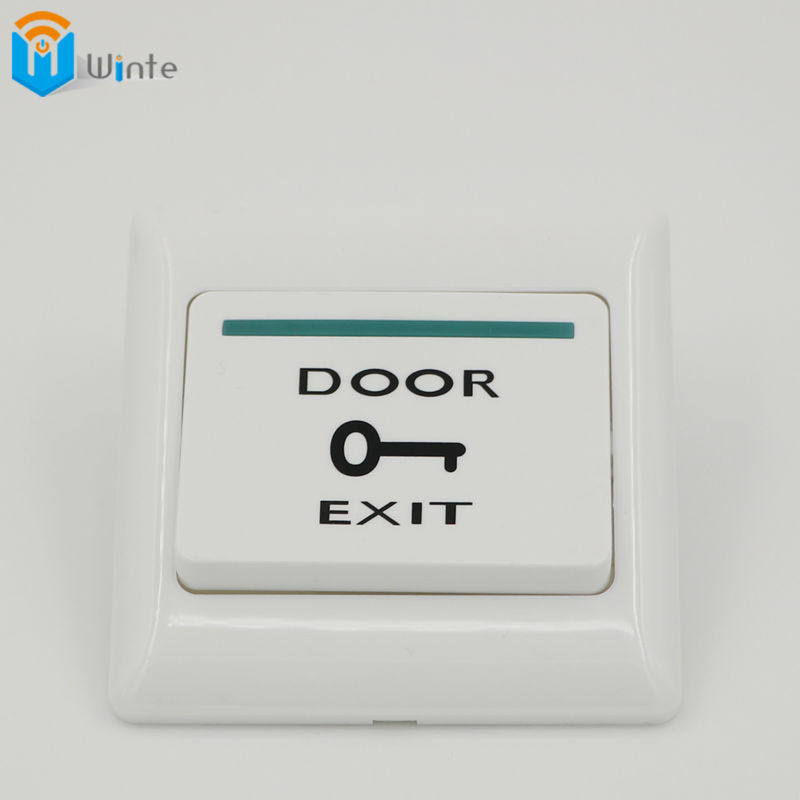 Exit Button White Plastic Exit Push Release Button Switch For Door Access Control Electric magnetic Lock Access Control Winte fireproofing plastic abs white push door release exit button switch for door lock access control system m6 model