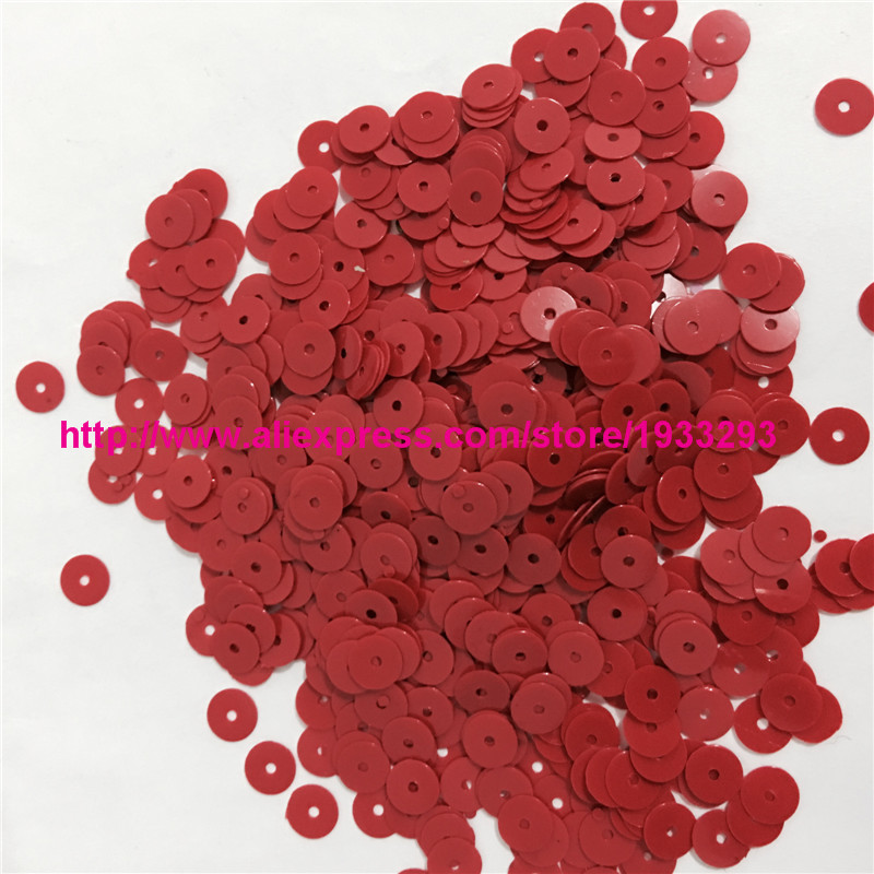 4000pcs(50g) Solid Red Color 6mm Flat round loose Sequins Paillette Sewing  Garment Clothing accessories Sequins for crafts-in Sequins from Home    Garden on ... 9026275ff892