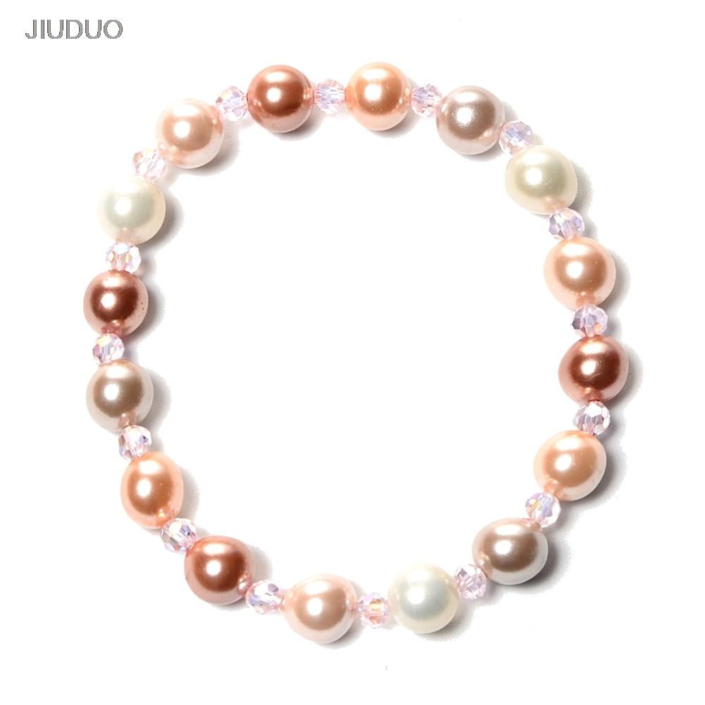 JIUDUO új bájos, fehér édesvíz Pearl Shell karkötő Divat - Finom ékszerek