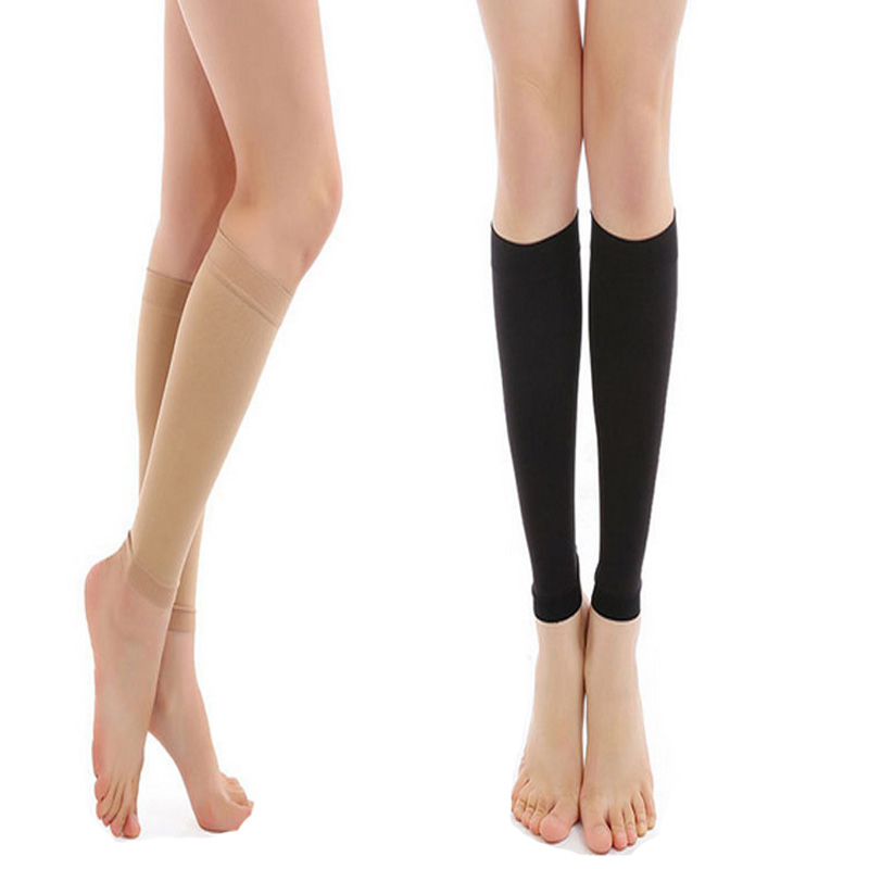 1 Pair Leg Sleeve Swelling Support Medical Compression Brace Shin Splint Stockings Varicose Vein
