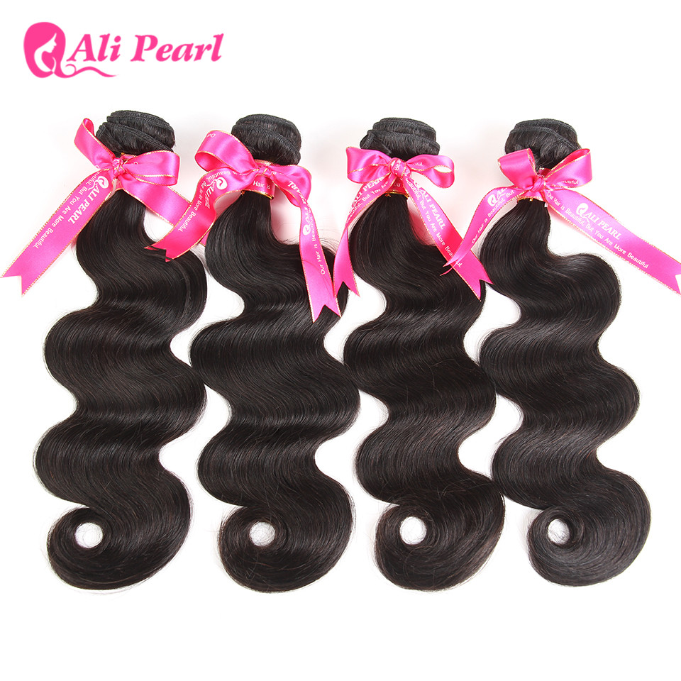 Alipearl Hair 3 Bundles Brazilian Deep Wave 100% Human Hair Bundles With Frontal Natural Black Remy Hair Extension Free Shipping Hair Extensions & Wigs 3/4 Bundles With Closure