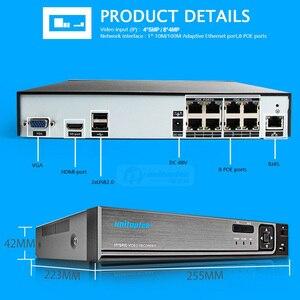 Image 4 - H.265 H.264 8CH 48V CCTV POE NVR caméra IP Surveillance de sécurité système de vidéosurveillance P2P ONVIF 4*5 MP/8*4 MP enregistreur vidéo réseau HD