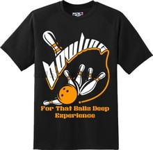 aba0cf607c Funny Balls Deep Experience Bowling Sports T Shirt New Graphic Tee(China)