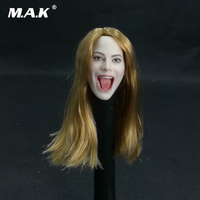 1/6 Scale Figure Accessory Female Personalized Head Carved Singing Open Mouth Model for 12'' Pale Skin Female Figure Body