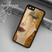 Maifengge Klimt-funda con lágrimas de oro para iPhone 5, 6, 6s, 7, 8 plus, X, XR, XS, max, 11, 12 Pro, Samsung Galaxy S7edge, S8, S9, S10