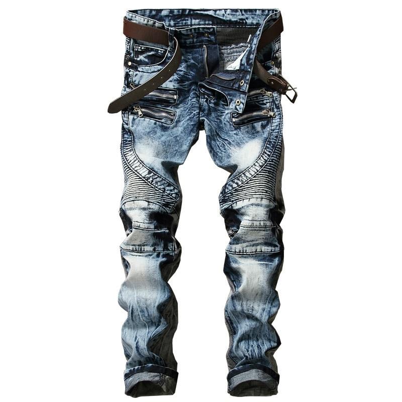 New Fashion Men's Biker Jeans Pants Slims