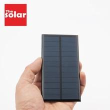 لوحة طاقة شمسية 6VDC 167mA 1 وات 1 وات لوحة طاقة شمسية قياسية من السيليكون الإيبوكسي متعدد البلورات DIY وحدة شحن طاقة بطارية لعبة خلايا شمسية صغيرة