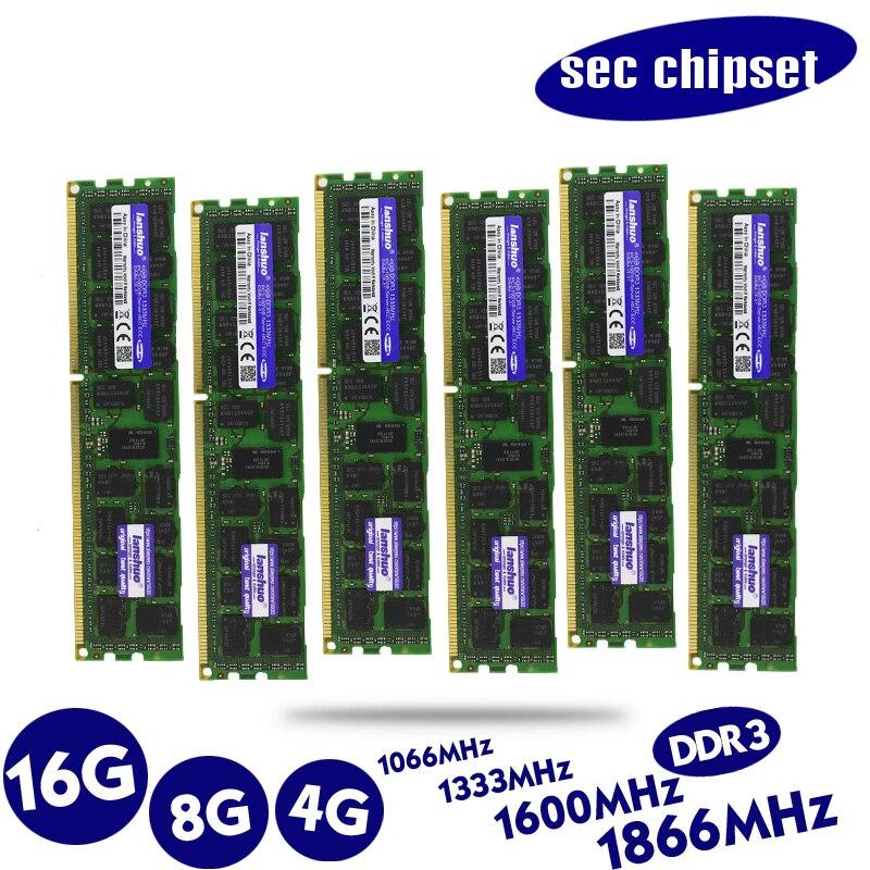 Original 4 GB DDR3 1333 MHz 1600 Mhz 1866 Mhz 8G 1333 de 1600 de 1866 REG ECC servidor RAM memoria 16 gb 24 gb 16g 24g 32 gb 32g X79 X58 LGA2011