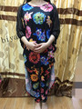NEW African LADY STYLE DRESS WITH PANTS/TROUSERS black ship on Feb 28th
