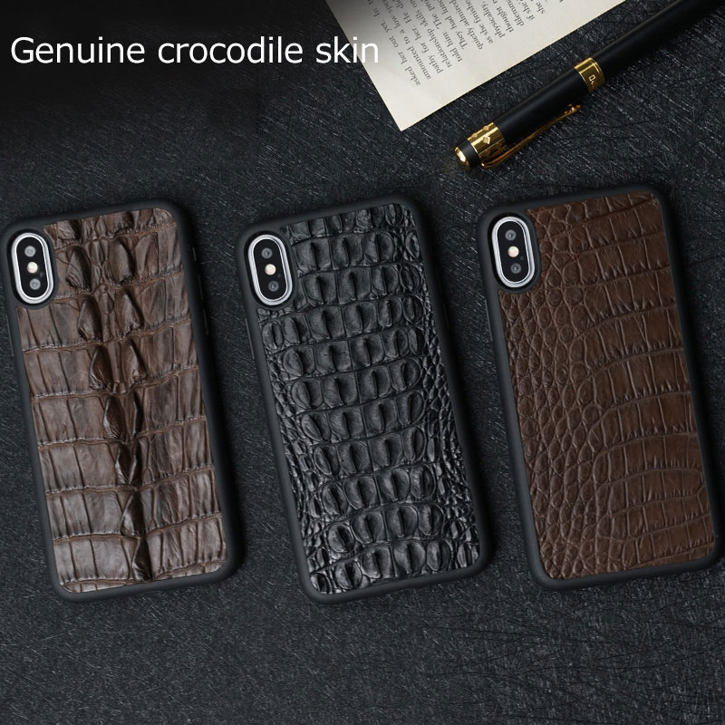 natural crocodile Genuine Leather for huawei huawei p20 lite case High grade leather case for HUAWEI huawei p20 pro case - 6