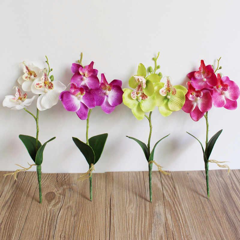 الزهور المنزل الديكور الثلاثي رئيس الاصطناعي فراشة السحلية زهرة الحرير المنزل الزفاف ديكور الاصطناعي النباتات