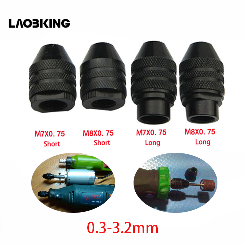 4 Types Multi Chuck Keyless For Dremel Rotary Tools 0.3-3.2mm Keyless Drill Bit Chucks Adapter Converter Universal Mini Chuck