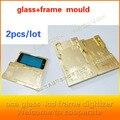 """2 pçs/lote alumínio molde para iphone 6/6 s 4.7 """"6/6 S plus 5.5"""" laminador molde de metal jig para vidro frontal com moldura de Localização"""