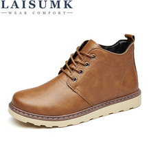 цена на 2019 LAISUMK Business Leather Man Casual Shoes Men Adult Quality Autumn Walking Footwear Breathable Male Shoes