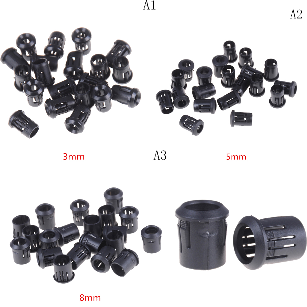 10pcs/lot Hot Sale Black Plastic Black Plastic 3mm/5mm/8mm Lamp LED Diode Holder Black Clip Bezel Socket Mount