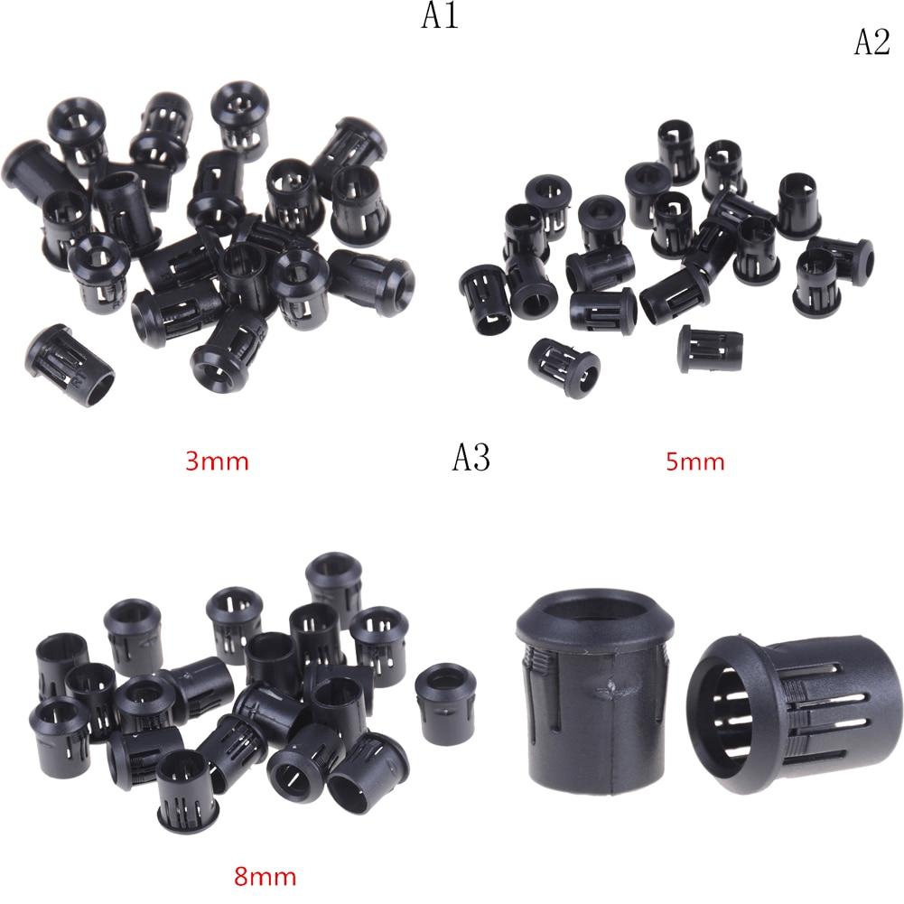 10pcs/lot Hot Sale Black Plastic Black Plastic 3mm/5mm/8mm Lamp LED Diode Holder Black Clip Bezel Socket Mount