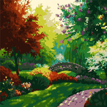 Beautiful Park Oil Painting By Numbers DIY Abstract Digital Picture Coloring On Canvas Unique Gift Home Decor 2017