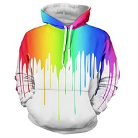 BIANYILONG Nice Autumn Winter Fashion Cap Hoodies Men Women Long Sleeve Pullovers Print Paint Color Blocks