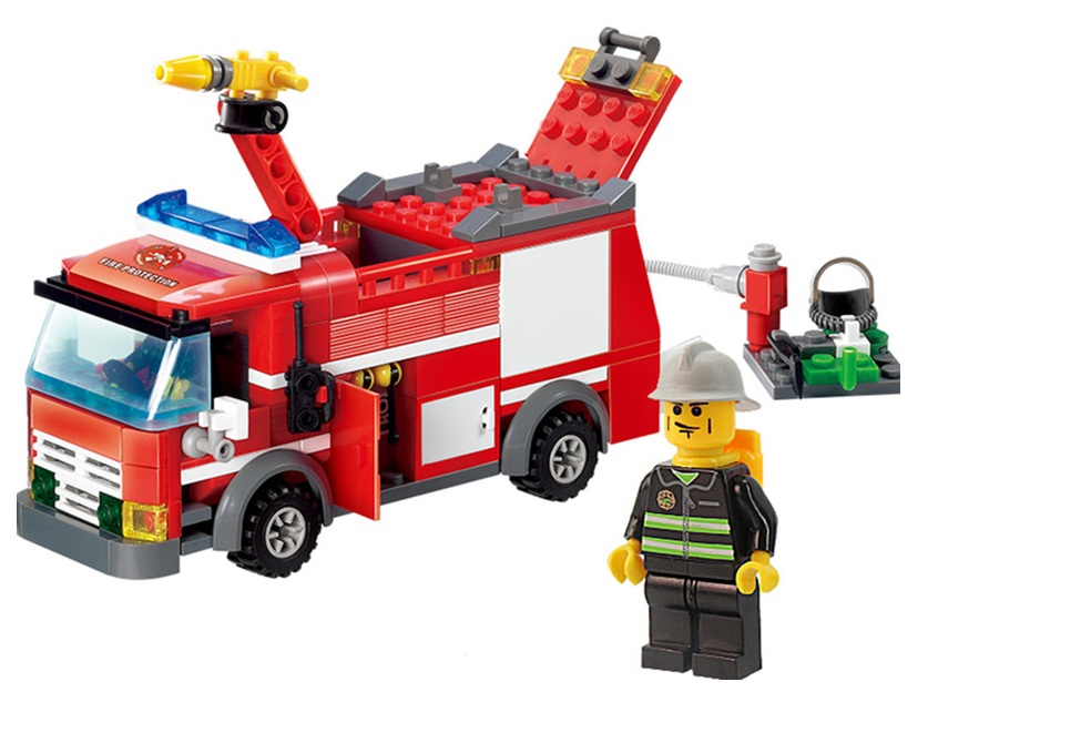 mylb FireTruck Building Blocks Firefighter Toys Bricks city Educational toys playmobile Gifts for children dropshipping!!!
