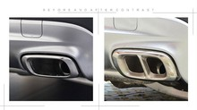 2pcs Stainless Steel For Mercedes Benz GLA Class X156 200 220 260 2015 2016 Car Accessory Exhaust Output Tail Cover Trim Sticker