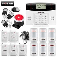 Metal Controle Remoto Dual-Rede GSM/PSTN SMS Kit Teclado LCD Sistema de Segurança Sem Fio do Alarme de Assaltante Sensor Da Porta Alarme GSM