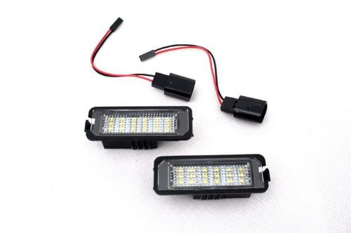 ФОТО LED License Plate Lights (W/O CANBUS Load Resistors) For VW Volkswagen Golf MK4 / MK5