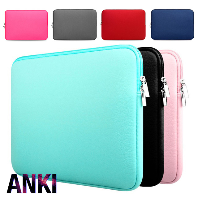 7 Colors New Soft Laptop Sleeve 11 13 15 15.6 inch Laptop Bag Case For Macbook Air 13 Pro Retina 15 Notebook Bags For Xiaomi Air hot pu leather sleeve case for macbook air 11 air 13 retina 13 3 inch pro 15 4 envelope bag wholesales free drop shipping