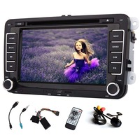 GPS Navigation Car DVD Player Logo Stereo System For VW Volkswagen PC Sub IPod Bluetooth Autoradio