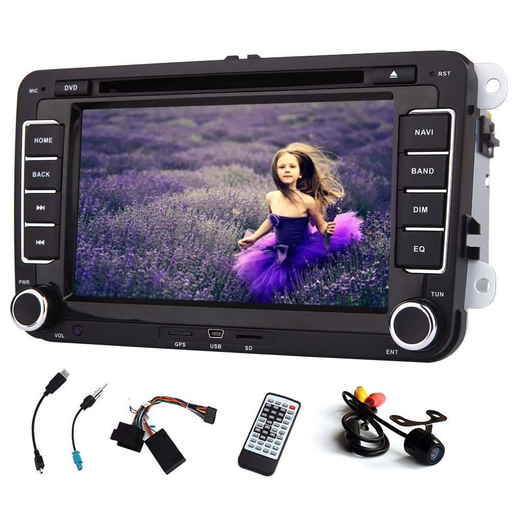 GPS Navigation Car DVD Player Logo Stereo System For VW Volkswagen PC Sub iPod Bluetooth Autoradio In Dash Radio Receiver Auto