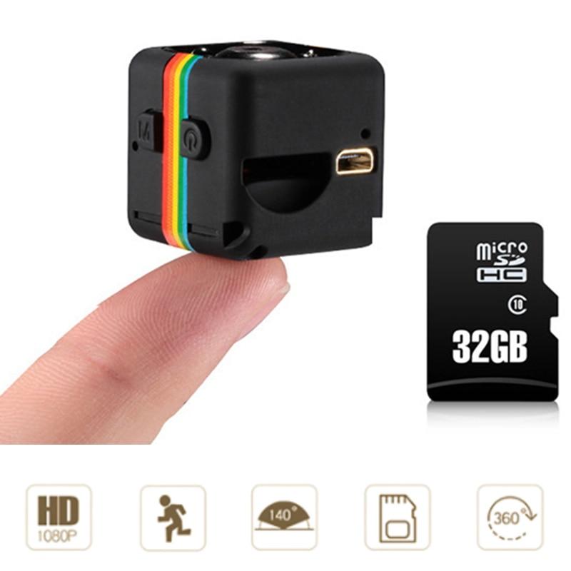 Original SQ11 Full HD MINI Camera 1080P 12MP Night Vision Outside Nanny Micro Cam Motion Detection Digital Camcordor Recorder