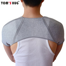 Tom's Hug Brand Bamboo Charcoal Back Support Shoulder Guard Brace Retaining Straps Posture Sport Injury Back Pad Belts Keep Warm(China)