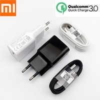Original Xiao mi mi 9 18W chargeur qc 3.0 12 V/1.5A chargeur rapide adaptateur secteur Type C USB pour mi 8 9t 9se cc9 mi a3 redmi note 7 pro
