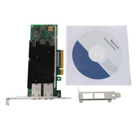 Network Adapter(NIC) X540 Chipset PCI E X8 Dual RJ45 Copper Port CNA Intel X540 T2 10GbE Converged dropshipping