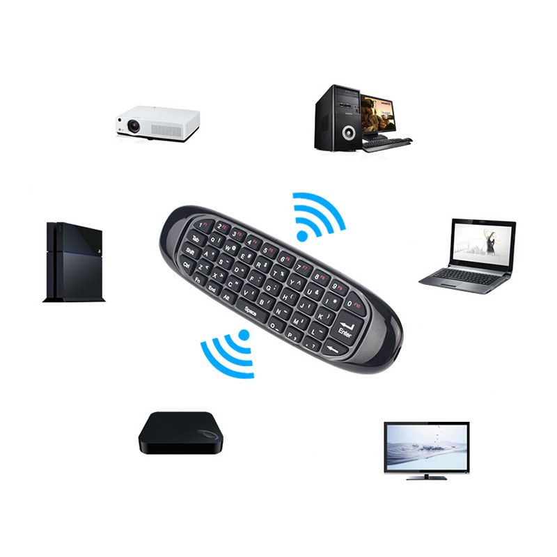 C120 fly air mouse 2.4G mini Wireless Keyboard remote controller for Android Smart TV Box PC original t2 air mouse 2 4g wireless mini keyboard 3d sense motion remote controller t2 air mouse for android smart tv box pc