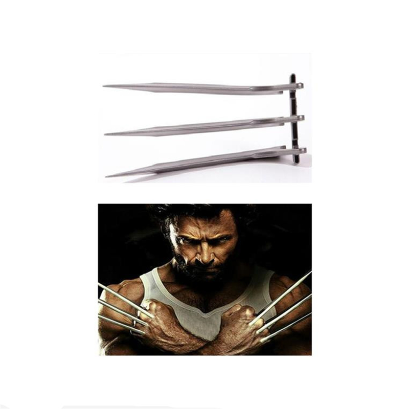 Halloween Cosplay X Warrior Wolverine Logan Knife Claws 1:1 Props a Pair Of Super Hero Wolf Claw Weapons For Men And Women Apply