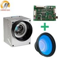 파이버 마킹 시스템 10mm 갈보 헤드 검류계 스캐너 + F 세타 렌즈 + BJJCZ 파이버 레이저 마킹 머신 용 마킹 보드