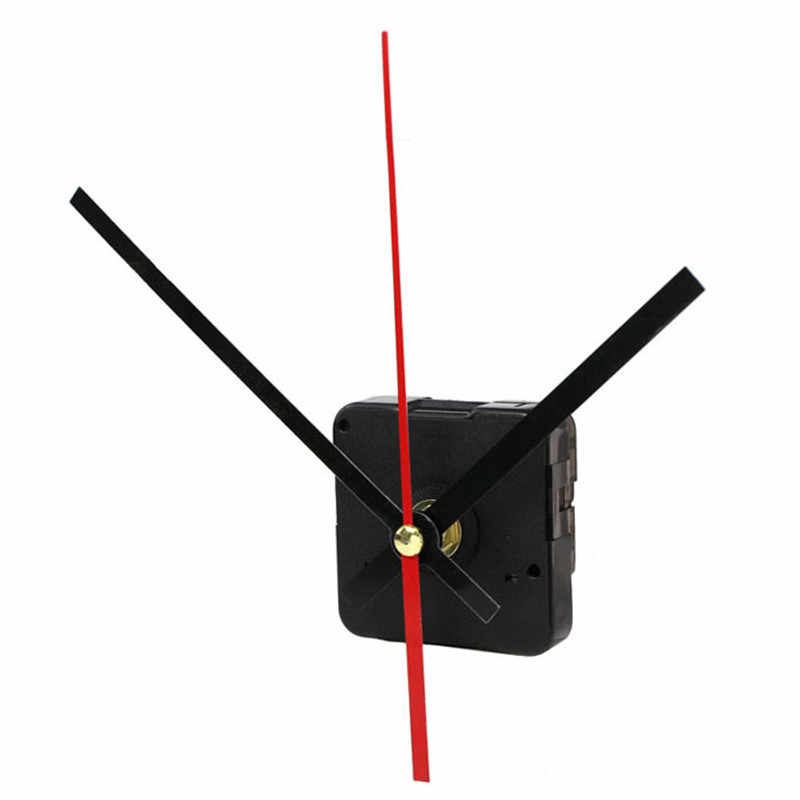 High Quality Quartz Clock Movement Mechanism DIY Repair Parts with Black and Red Hands Mechanism Parts Repair Replacement 2018